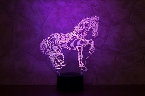 3D светильник Лошадка
