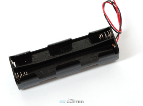 Отсек на 8 АА батарей с разъёмом Servo/Futaba
