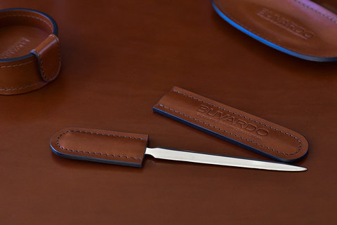 Нож для писем ЛЮКС из кожи Full Grain Toscana Tan
