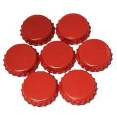 Набор кроненпробок 21 мм, 80 шт, красные