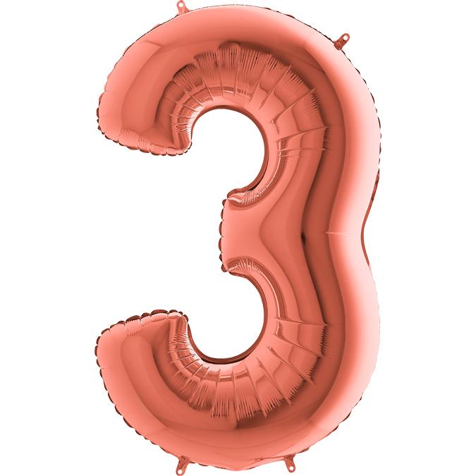 Цифра Розовое золото 3