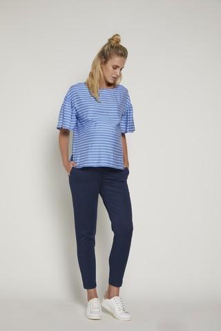 Блузка для беременных 09350 голубой