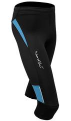 Капри беговые Nordski Premium Black-Aquamarine женские