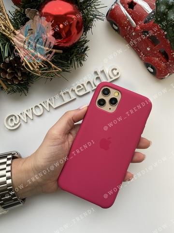 Чехол iPhone 11 Pro Silicone Case /pomegranate/ сочный гранат original quality