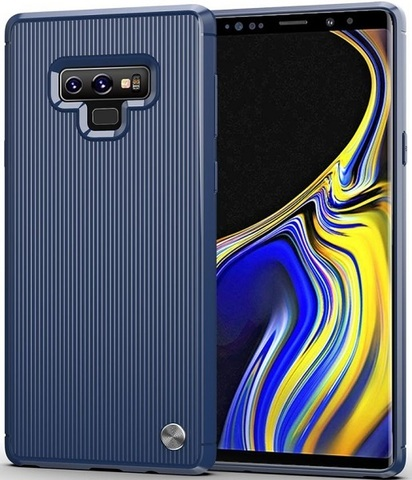 Чехол для Samsung Galaxy Note 9 цвет Blue (синий), серия Bevel от Caseport