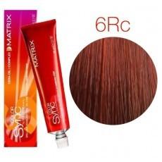 Matrix Color Sync: Red Copper 6RC темный блондин красно-медный, крем-краска без аммиака, 90мл