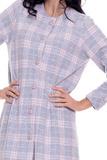 Теплый клетчатый халат на пуговицах DolceVita