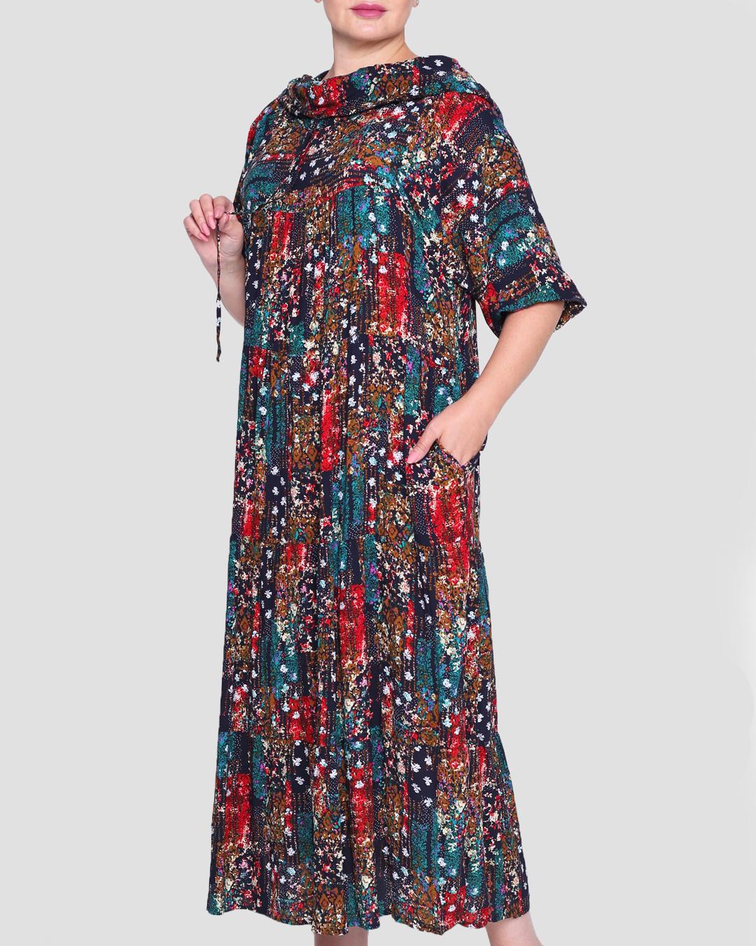 Платье женское с капюшоном