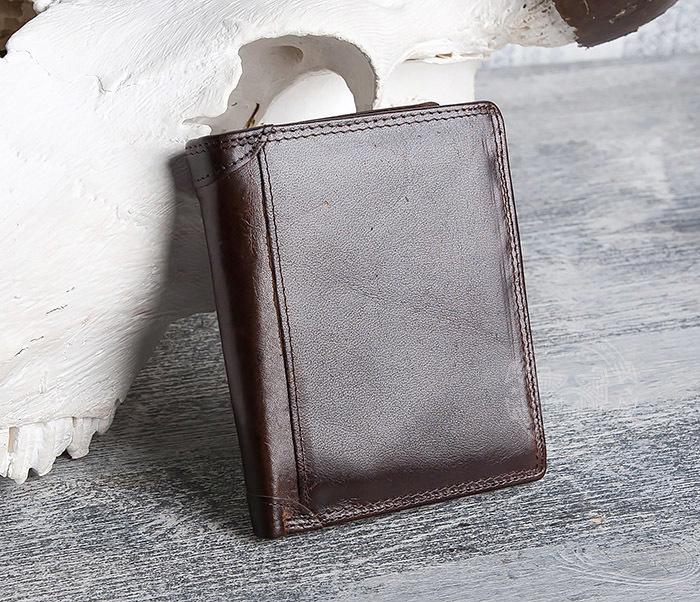 WL275-2 Мужской кошелек из гладкой натуральной кожи фото 03