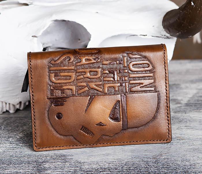BC198 Кожаный ежедневник ручной работы «JOIN THE DARK SIDE» (A6) фото 09