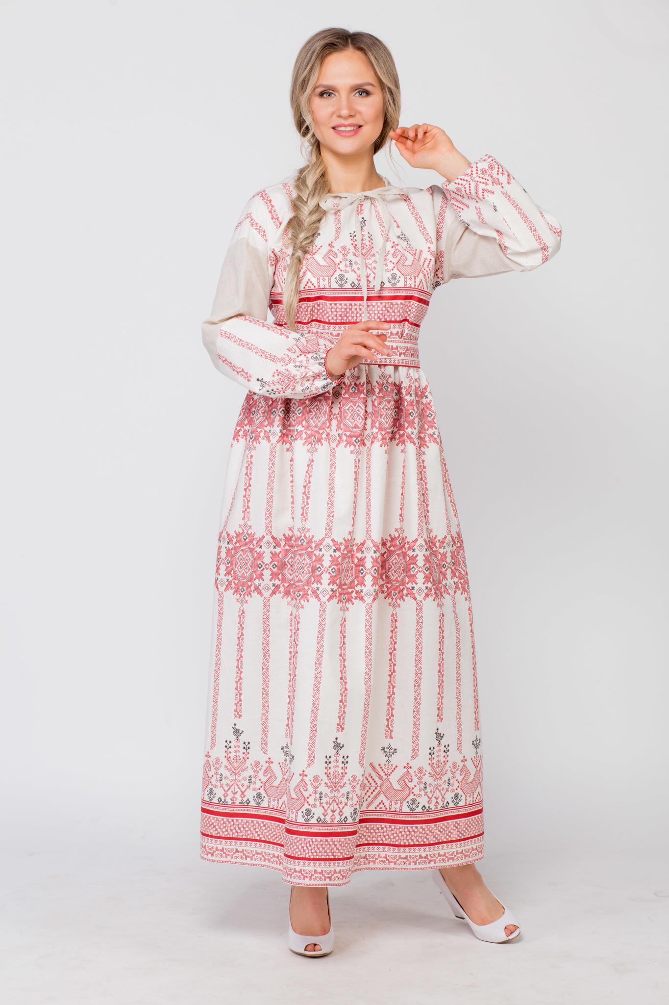 Платье льняное Земледелие купить