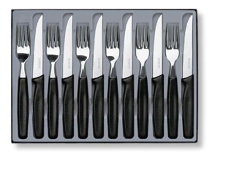 Набор Victorinox столовый, 12 предметов, черный