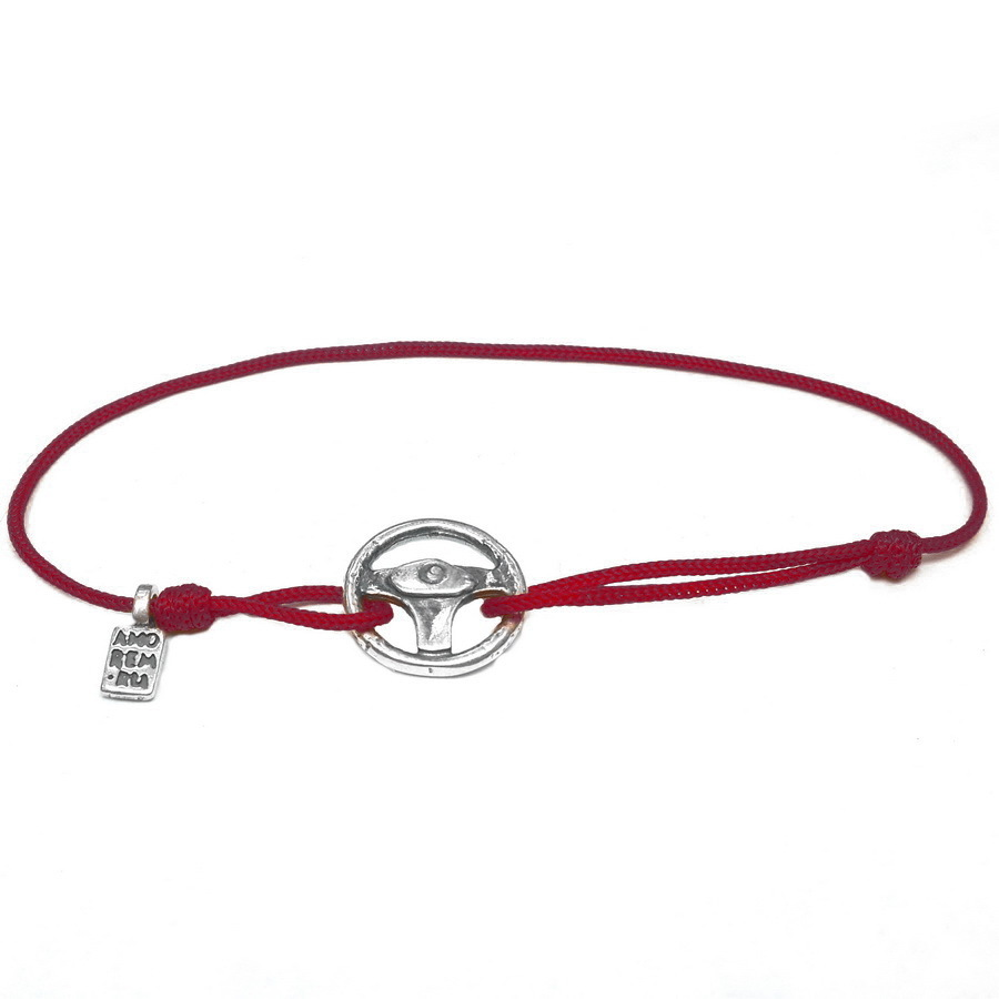 Steering Wheel bracelet, sterling silver