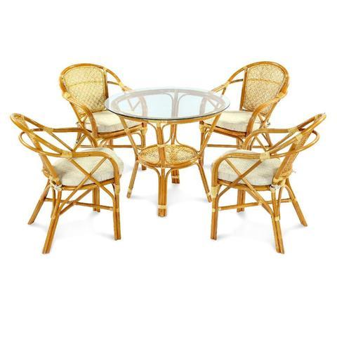 Комплект обеденный ELLENA (обеденный стол и 4 кресла)