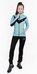 Детский утеплённый лыжный костюм Nordski Jr. Base Mint/Black