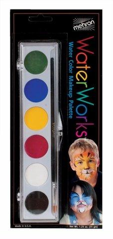 MEHRON Палитра аквагрима в базовой гамме Waterworks Face Paint Palettes (6 Colors)