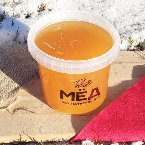 Мёд цветочный начало лета 2020 Ивановка 1 литр (1,4 кг)