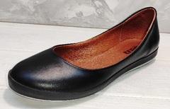 Балетки летние женские черные EFA ( 22,5 см)