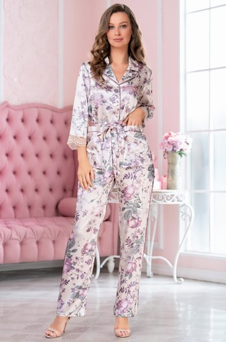 Шелковая пижама-двойка на пуговицах Mia Amore Miracle (70% нат.ш