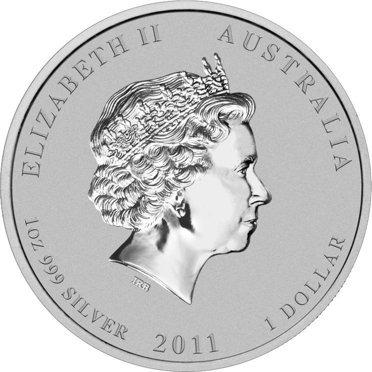1 доллар. Год Кролика. Австралия. 2011 год