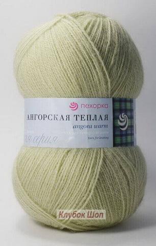 Ангорская теплая 1076 Светло-фисташковый (Пехорская пряжа)