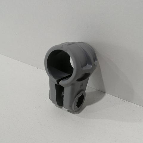 Хомут Cl022 на трубу Ø 22 мм, серый