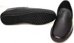 Модные мужские слипоны мокасины на толстой подошве smart casual Broni M36-01 Black.