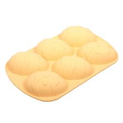 Форма для выпечки из силикона «Яйца пасхальные» 6 ячеек , 26.5х17х3.5 см