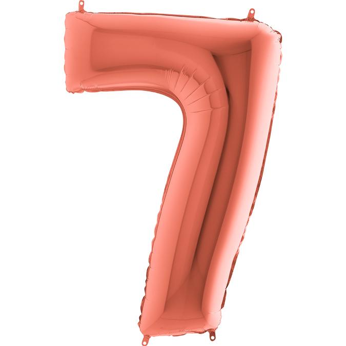 Цифра Розовое золото 7