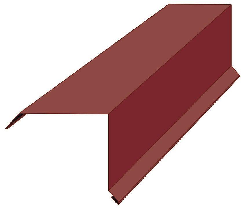 Планка торцевая (фронтонная)  95х120мм., полиэстер матовый