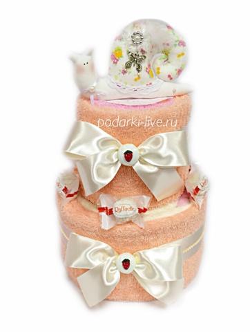 Торт из полотенец 2 яруса