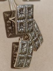 Крепа (кольцо + серьги из серебра)