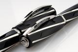 Visconti Divina Black Over черная смола ребра серебро (VS-264-02)
