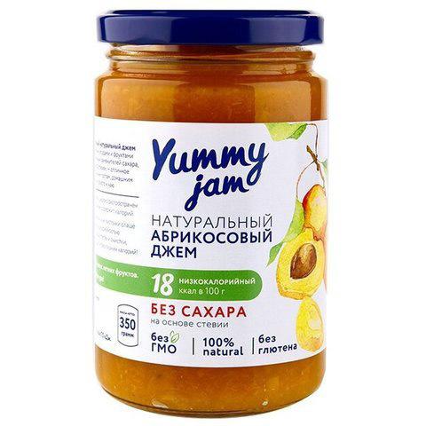 Джем абрикосовый без сахара Yummy, 350г