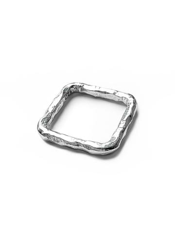 Серебряное кольцо квадрат