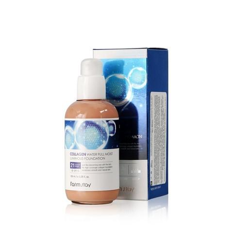 FARM STAY Тональный крем с коллагеном, 21 тон collagen water full moist luminous foundation