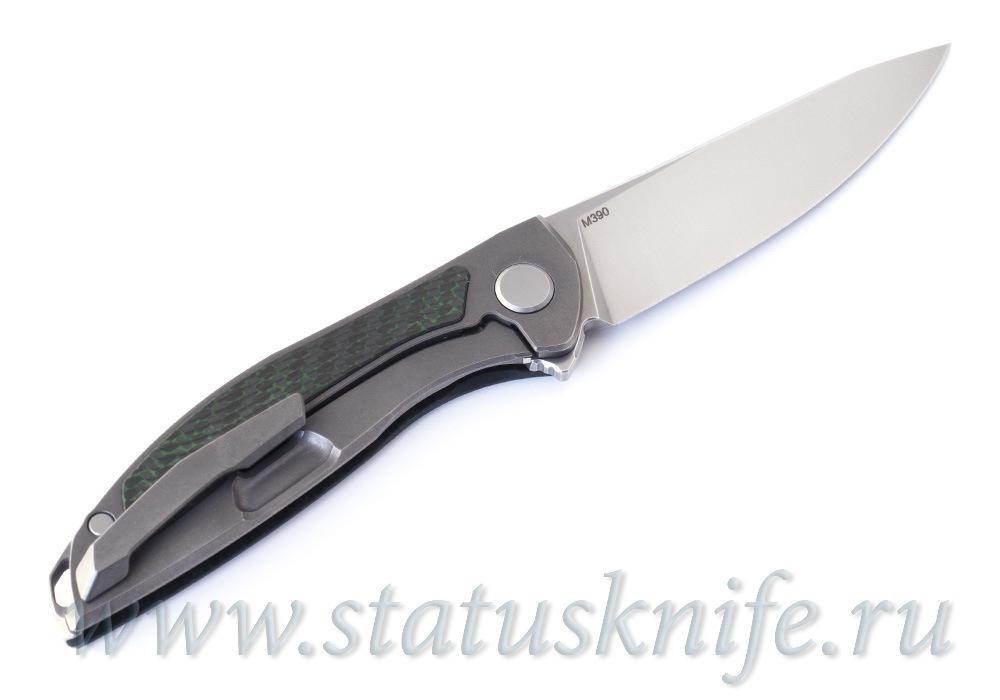 Нож Широгоров ХатиОн Zero Green M390 - фотография
