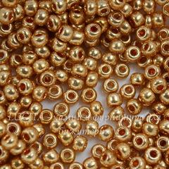 18304 Бисер 6/0 Preciosa Металлик медово-золотистый