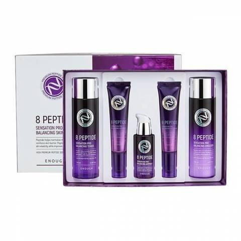 Enough 8 Peptide Pro Balancing Skin Care 5 Set набор для ухода за кожей лица с пептидами