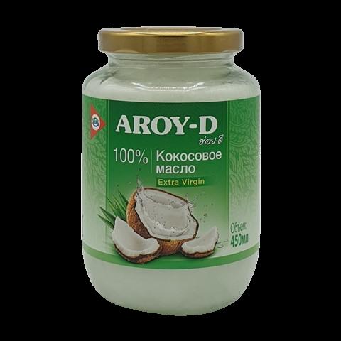 Масло кокосовое нерафинированное первого холодного отжима AROY-D, 450 мл