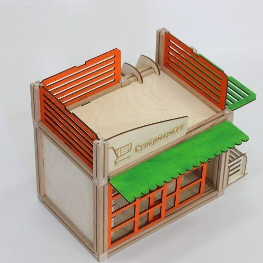 Woodjo Supermarket 57 деталей