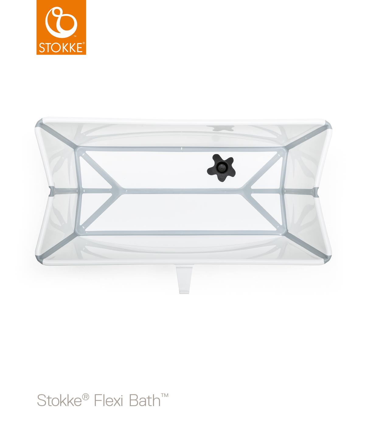 Серо-белая складная ванночка с рождения до 4 лет Stokke® Flexi Bath®