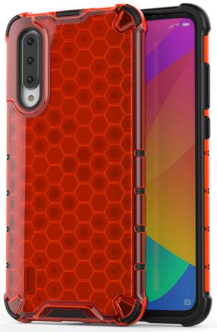 Чехол в красном корпусе для Xiaomi Mi 9 Lite и A3 Lite от Caseport, серия Honey