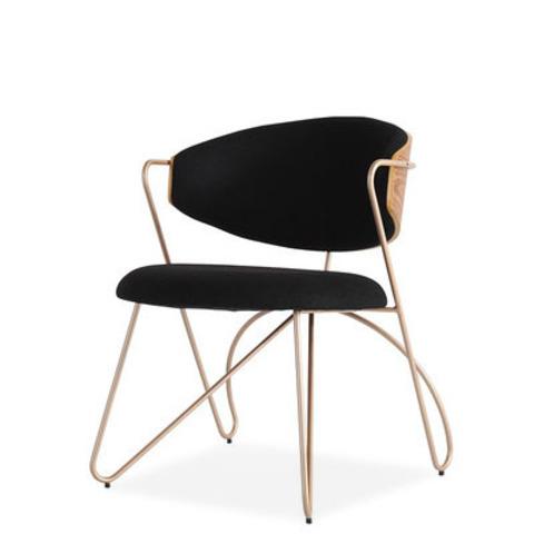 Стул-кресло Sophia by Light Room (черный/золотые ножки)