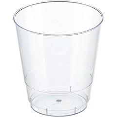 Стакан одноразовый Стандарт пластиковый прозрачный 200 мл 50 штук в упаковке