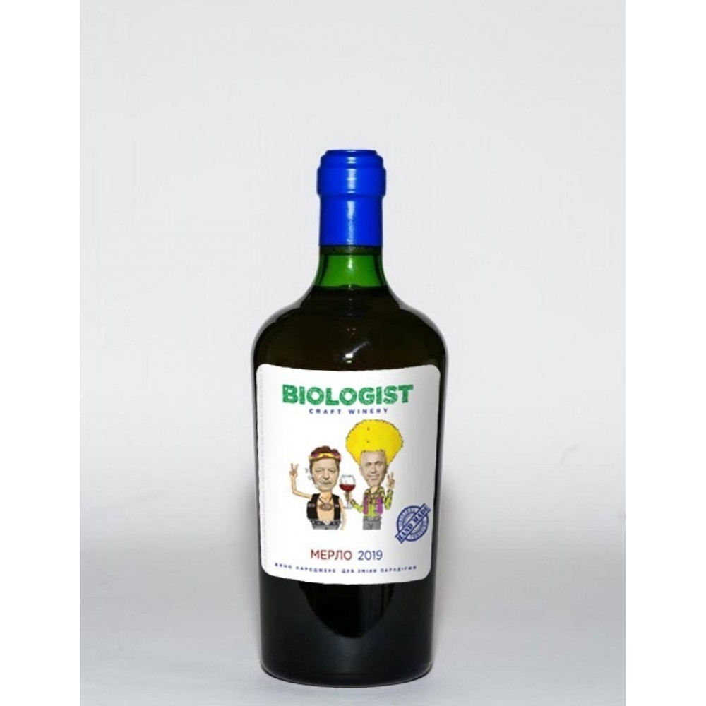 Вино Biologist Мерло червоне сухе нефільтроване
