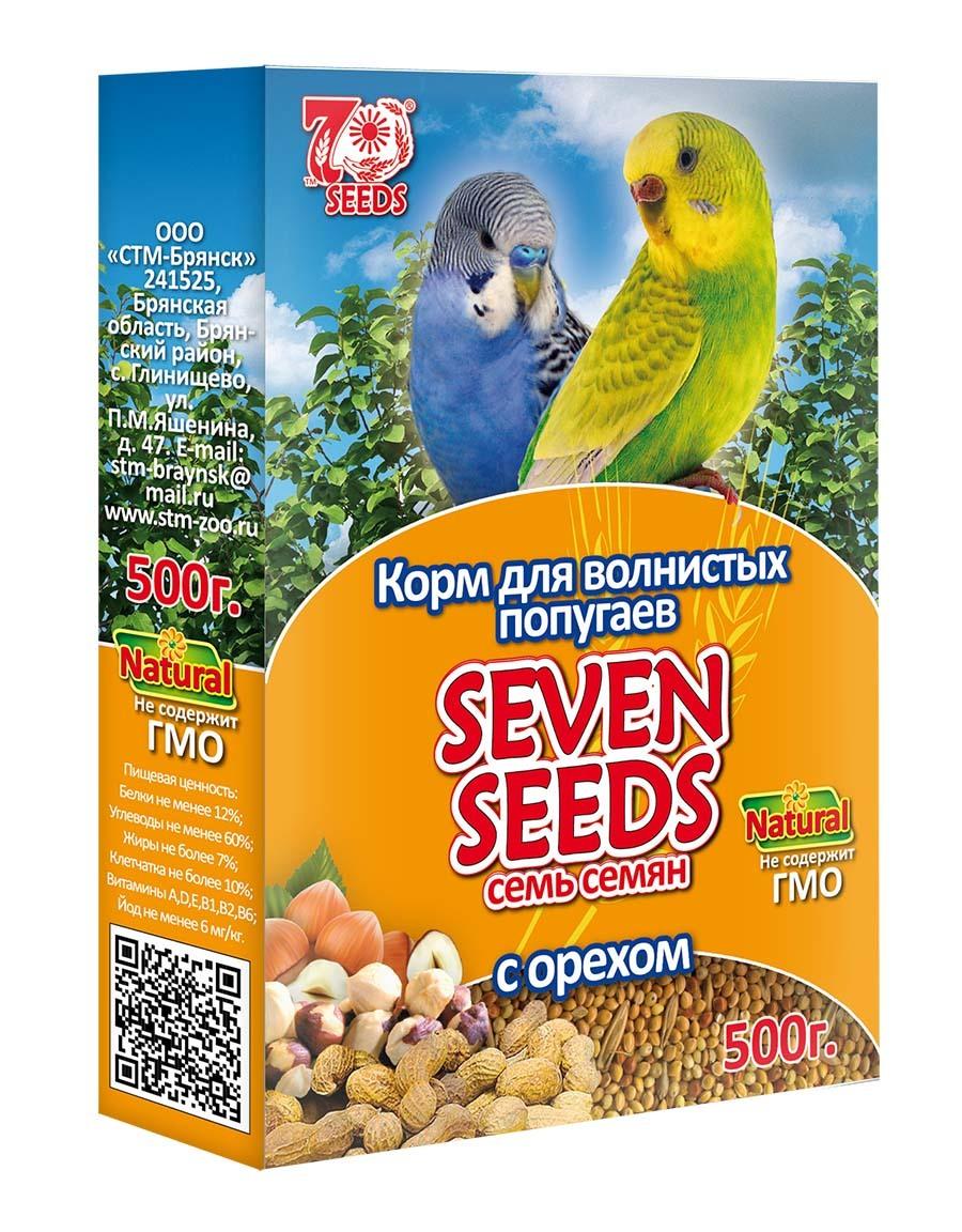 Корм Корм для волнистых попугаев с орехом Seven Seeds 42.jpg