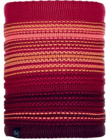 Шарф-труба вязаный с флисом Buff Neckwarmer Knitted Polar Neper Bright Pink фото 1