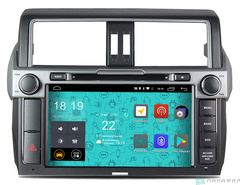 Штатная магнитола 4G/LTE с DVD для Toyota Land Cruiser Prado 150 14-16 Android 7.1.1 Parafar PF347D
