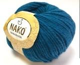 Пряжа Nako Merino Blend DK 10328 морская волна